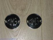 Эмблемы ИМЗ никелированные черные